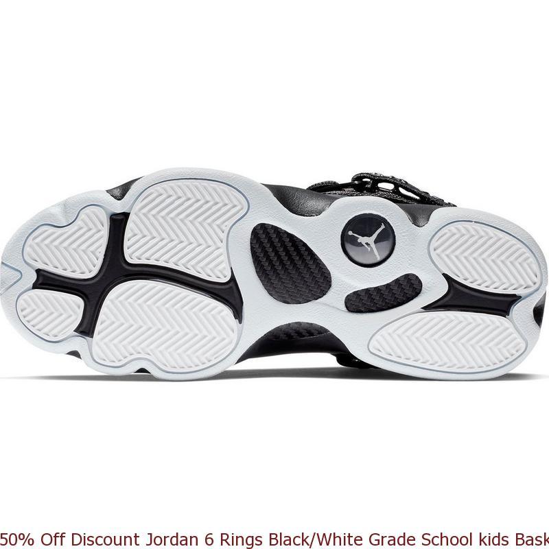 1e0e856deafc 50% Off Discount Jordan 6 Rings Black White Grade School kids Basketball  Shoe – cheap real ...
