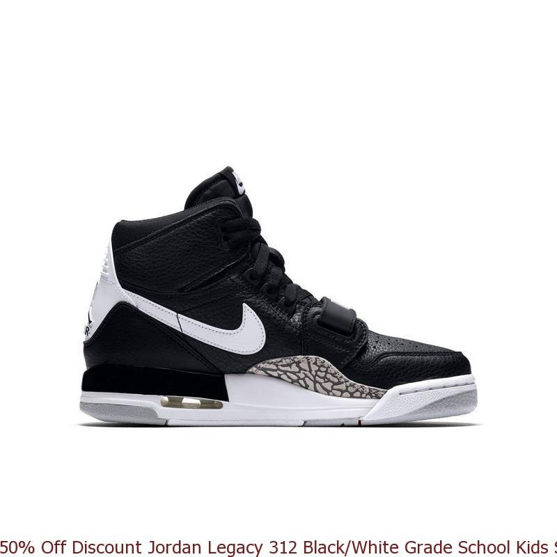 super popular 7d7a0 a44f0 50% Off Discount Jordan Legacy 312 Black White Grade School Kids Shoe –  cheap ...
