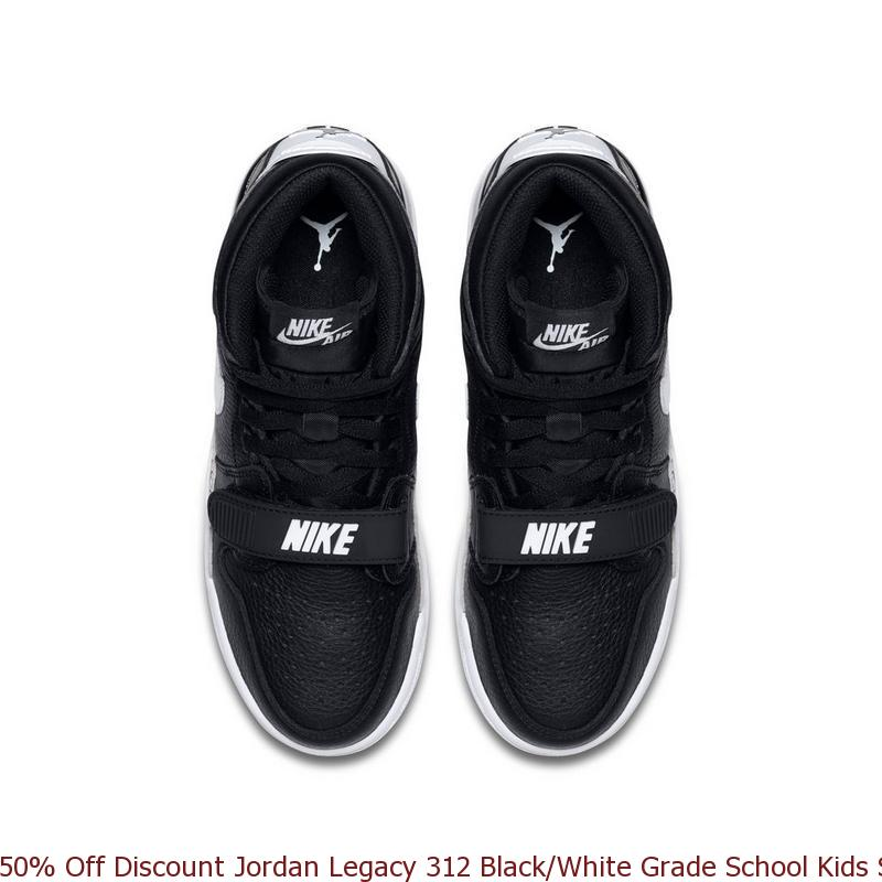 c4d4ca1ecfaf 50% Off Discount Jordan Legacy 312 Black White Grade School Kids ...