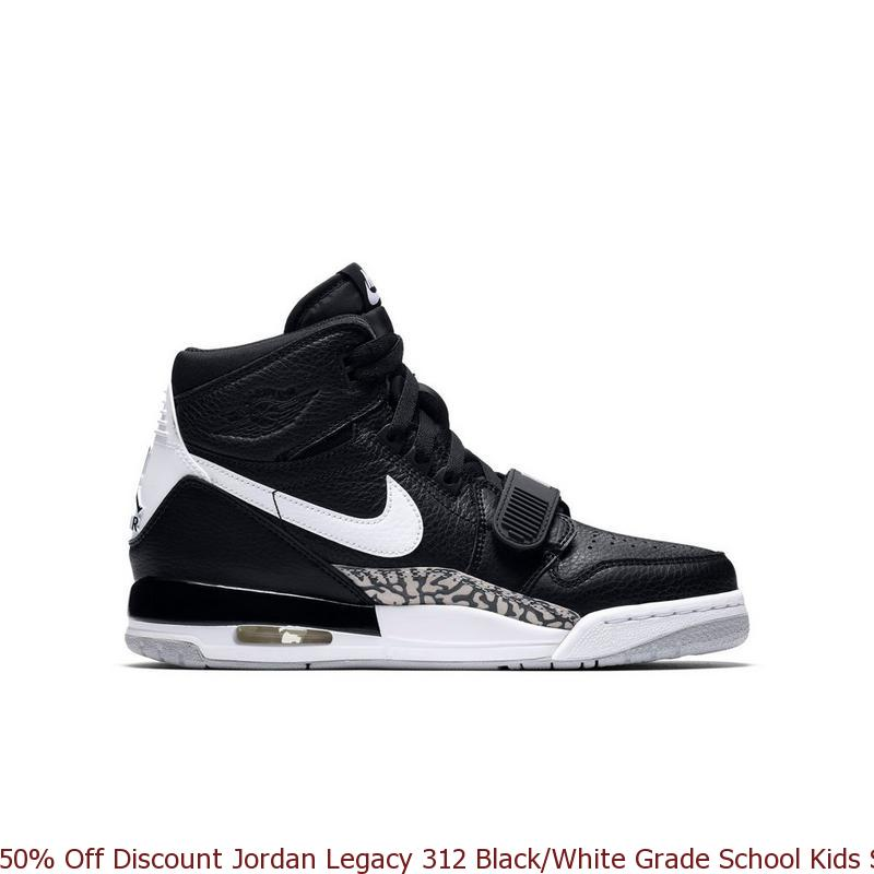 57f83894913 50% Off Discount Jordan Legacy 312 Black/White Grade School Kids ...