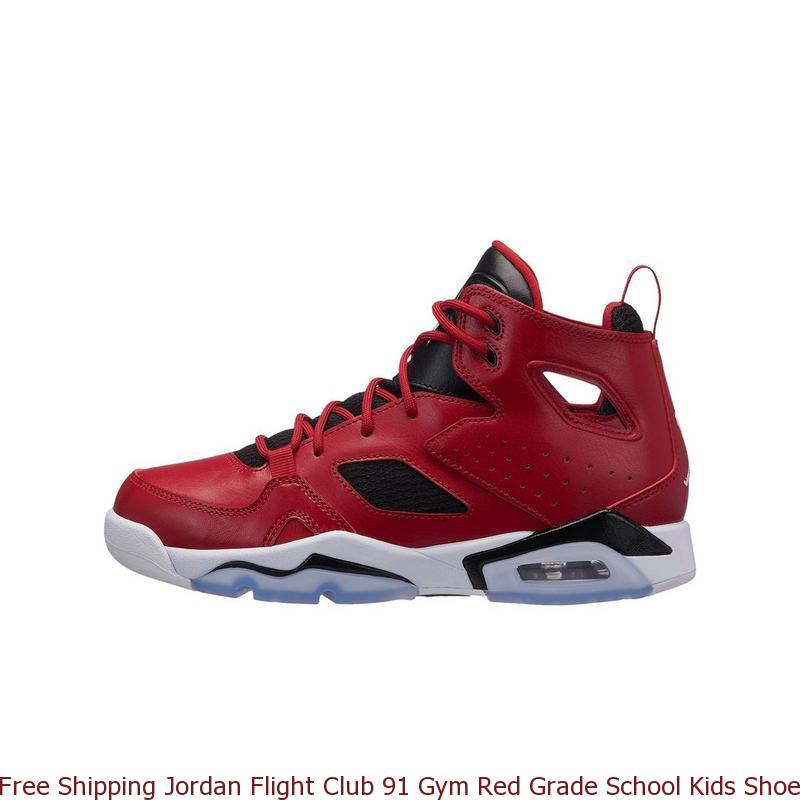 8914d60f1d7f87 Free Shipping Jordan Flight Club 91 Gym Red Grade School Kids Shoe ...