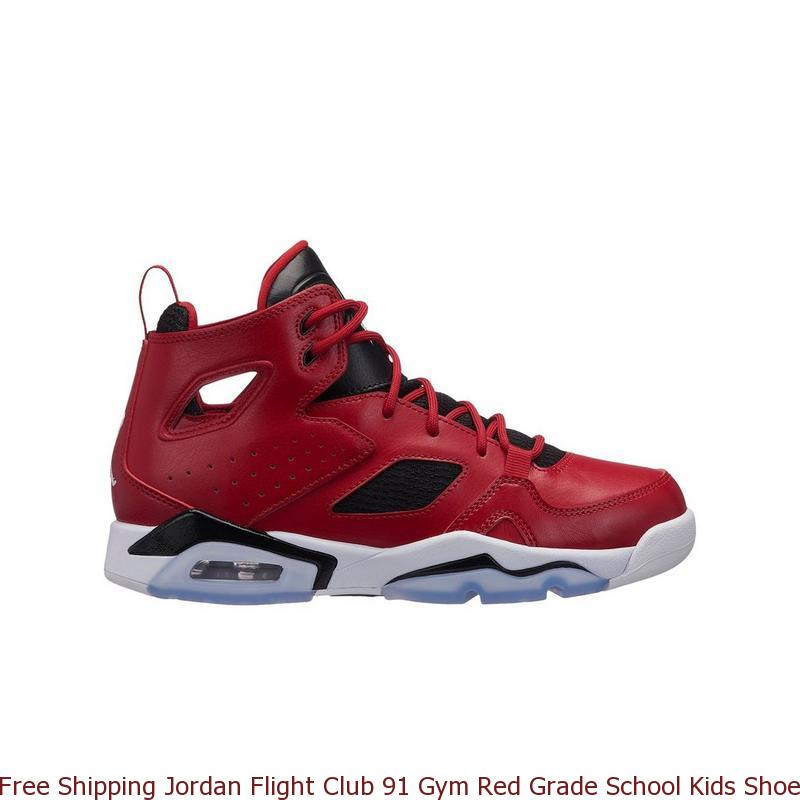 Free Shipping Jordan Flight Club 91 Gym Red Grade School Kids Shoe ... f7c12d2aa