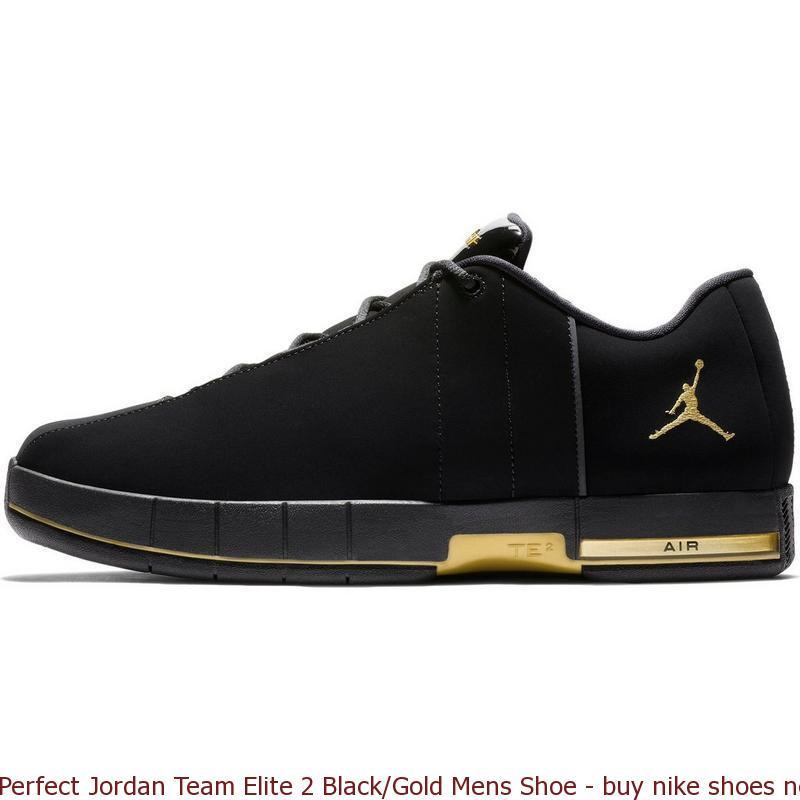 Perfect Jordan Team Elite 2 Black/Gold