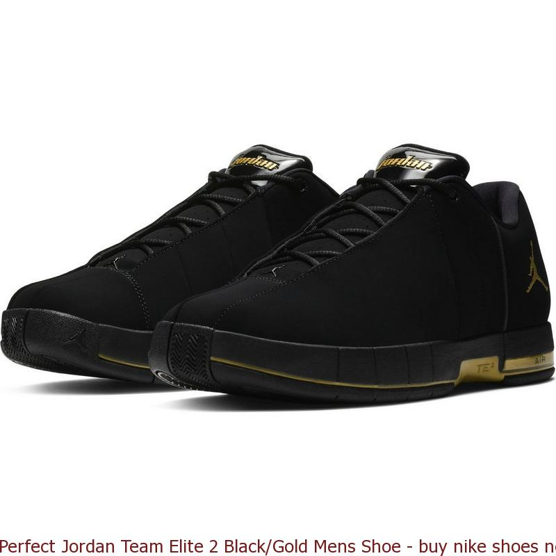 ab0bf0d1b33e Perfect Jordan Team Elite 2 Black Gold Mens Shoe – buy nike shoes ...