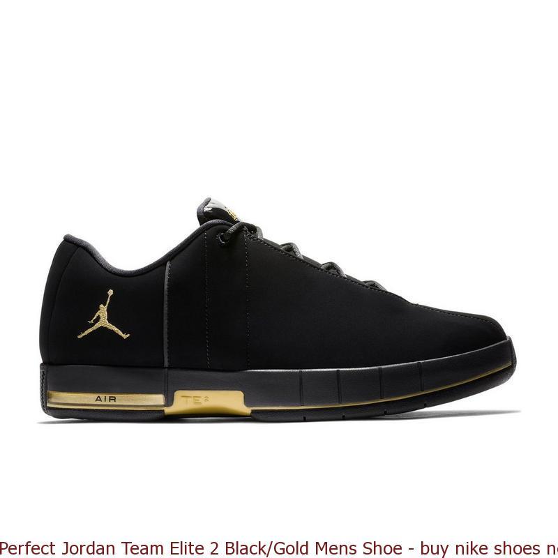 Perfect Jordan Team Elite 2 Black Gold Mens Shoe - buy nike shoes near me -  Q0263 a5bbc3045